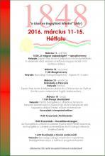 Március 15. rendezvénysorozat plakátja